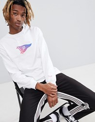 Primitive Tone Pennant Long Sleeve T Shirt In White