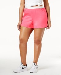 Soffe Curves Plus Size Active Shorts Neon Pink