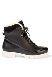 Australia Luxe Collective Rubstep Shearling And Rubber Boots Black