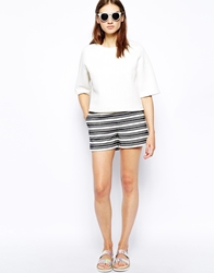 Whistles Kirsten Shorts In Stripe Multi
