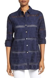 Foxcroft Women's Circle Eyelet Tunic Shirt