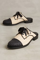 Anthropologie The Office Of Angela Scott Mr. Winnie Colorblock Slides Neutral Motif