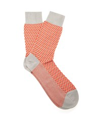 Falke Acapulco Cotton Blend Socks Orange Multi