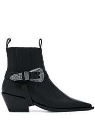 Anine Bing Pointed Ankle Boots Black