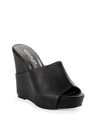 Charles By Charles David Alamo Leather Mules Black