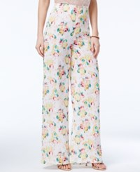 Xoxo Juniors' Printed Wide Leg Trousers Ivory Multi
