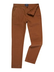 Criminal Denny Straight Leg Casual Trouser Brown
