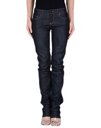 Prada Sport Denim Denim Trousers Women Dark Blue