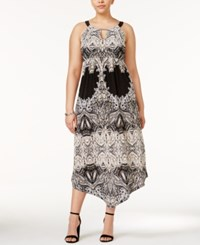 Inc International Concepts Plus Size Printed Maxi Dress Only At Macy's Electric Paisley