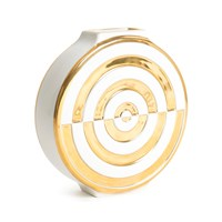 Jonathan Adler Futura Bullseye Vase White And Gold