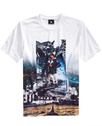 Lrg Men's Here To Party Nyc Graphic Print T Shirt White