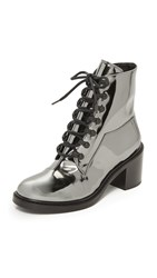 Maison Martin Margiela Lace Up Booties Steel