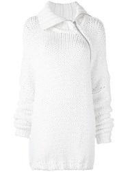 Marques Almeida Marques'almeida Chunky Knit Oversized Jumper White
