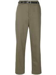 Golden Goose Deluxe Brand Turned Up Cuff Chinos Women Cotton Xxs Green