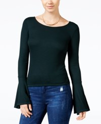 Chelsea Sky Ribbed Bell Sleeve T Shirt Only At Macy's Evergreen