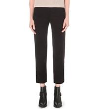 Allsaints Roya Regular Fit Crepe Trousers Black