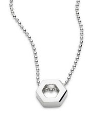 Alex Woo Elements Hexagon Sterling Silver Pendant Necklace