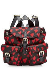 Red Valentino R.E.D. Printed Backpack With Leather