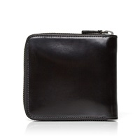 Il Bussetto Bi Fold Zip Wallet Black