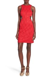 Junior Women's Morgan And Co. Side Cutout Sequin Lace Dress