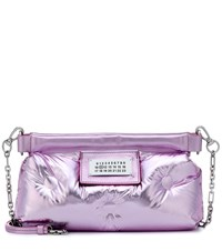 Maison Martin Margiela Glam Slam Quilted Leather Clutch Purple
