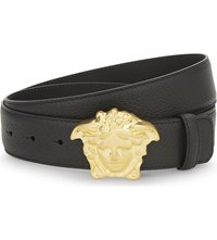 Versace Palazzo Leather Belt Black Gold