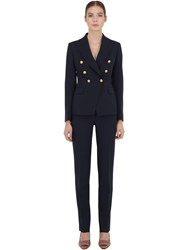 Tagliatore Lined Cady Suit Navy