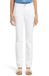 Lafayette 148 New York Women's Curvy Fit Jeans White
