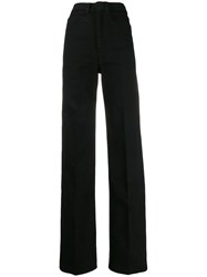 Christophe Lemaire High Rise Wide Leg Jeans Black