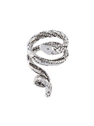 Aurelie Bidermann 'Asclepios' Snake Ring Metallic