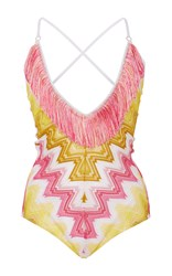 Missoni Sfumato One Piece Swimsuit Yellow