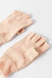 Urban Outfitters Basic Knit Fingerless Glove Tan
