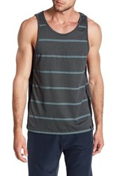 Burnside Striped Scoop Tank Gray