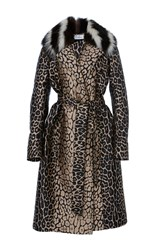 J. Mendel Mink Lined Trench Coat Animal
