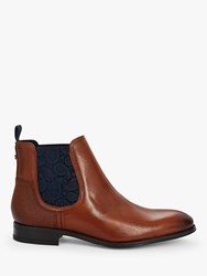 Ted Baker Tradd Leather Chelsea Boots Brown Tan
