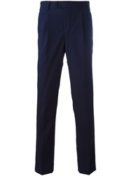 Massimo Piombo Mp Pleated Slim Fit Trousers Blue