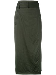 Dkny Belted Pencil Skirt Green