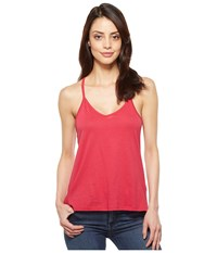Alternative Apparel Satin Jersey Strappy Tank Summer Berry Women's Sleeveless Red