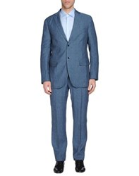 Luigi Bianchi Mantova Suits And Jackets Suits Men Pastel Blue