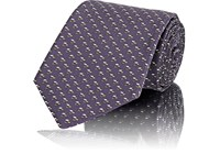 Fairfax Micro Diamond Jacquard Silk Twill Necktie Purple