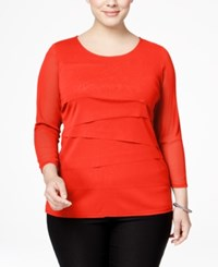 Alfani Plus Size Tiered Top Only At Macy's Tropical Reef