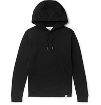 Norse Projects Vagn Loopback Cotton Jersey Hoodie Black
