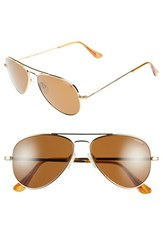Men's Randolph Engineering 'Concorde Classic' 57Mm Polarized Sunglasses Gold Tan
