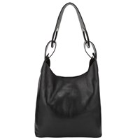 John Lewis Kin By Eri Leather Large Shoulder Bag Black