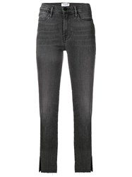 Frame Cropped Jeans Grey
