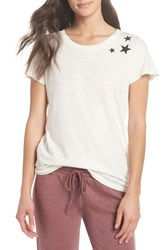 Alternative Apparel Distressed Tee Vintage White Stars