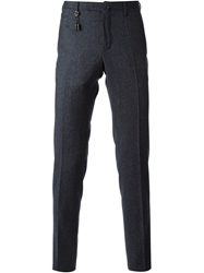 Incotex Patterned Skinny Trousers Blue