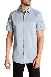 Burnside Colorblock Short Sleeve Woven Shirt Blue