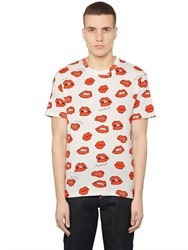 Au Jour Le Jour Lips Printed Cotton Jersey T Shirt