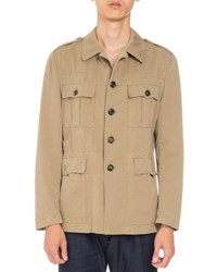 Dries Van Noten Baez Canvas Safari Shirt Sand